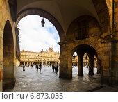 Купить «Plaza Mayor. Salamanca», фото № 6873035, снято 17 ноября 2014 г. (c) Яков Филимонов / Фотобанк Лори