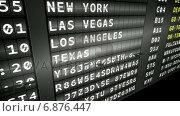 Купить «Departures board for american cities», видеоролик № 6876447, снято 25 июня 2019 г. (c) Wavebreak Media / Фотобанк Лори