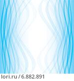 Купить «Голубой градиентный фон с плавными волнистыми линиями», иллюстрация № 6882891 (c) Типляшина Евгения / Фотобанк Лори