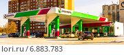 Купить «Заправка Башнефть в Оренбурге», фото № 6883783, снято 11 января 2015 г. (c) шаповалов андрей / Фотобанк Лори