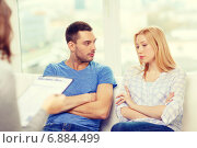 Купить «young couple with a problem at psychologist office», фото № 6884499, снято 9 февраля 2014 г. (c) Syda Productions / Фотобанк Лори