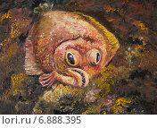Купить «Картина. Камбала на морском дне», иллюстрация № 6888395 (c) Олег Хархан / Фотобанк Лори