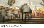 Купить «Люди в московском метро, таймлапс», видеоролик № 6893175, снято 1 января 2015 г. (c) Кирилл Трифонов / Фотобанк Лори