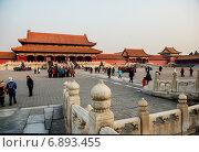 Купить «Запретный город. Пекин, Китай», фото № 6893455, снято 3 января 2015 г. (c) Liseykina / Фотобанк Лори