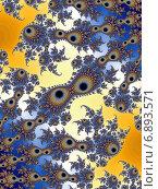 Купить «Декоративный фрактальный фон», иллюстрация № 6893571 (c) Astronira / Фотобанк Лори