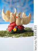 Два голубя на сердце. Стоковое фото, фотограф Юлия Москаленко / Фотобанк Лори