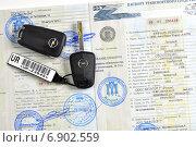 Паспорт транспортного средства (ПТС) (2015 год). Редакционное фото, фотограф Сергей Галинский / Фотобанк Лори