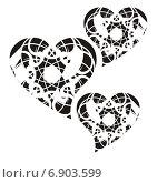 Сердца. Стоковая иллюстрация, иллюстратор Микрюкова Елена / Фотобанк Лори