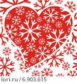 Красное сердце. Стоковая иллюстрация, иллюстратор Микрюкова Елена / Фотобанк Лори