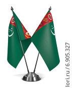 Туркменистан - миниатюрные флаги на подставке. Стоковая иллюстрация, иллюстратор Илья Урядников / Фотобанк Лори