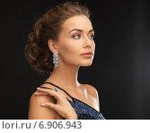 Купить «woman with diamond earrings», фото № 6906943, снято 17 марта 2013 г. (c) Syda Productions / Фотобанк Лори