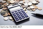 Купить «Калькулятор и российские рубли», фото № 6908447, снято 19 января 2015 г. (c) Александр Калугин / Фотобанк Лори