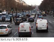 Автомобильные пробки в Париже (2010 год). Редакционное фото, фотограф Екатерина Рыжова / Фотобанк Лори