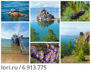 Озеро Байкал летом. Коллаж. Стоковое фото, фотограф Виктория Катьянова / Фотобанк Лори