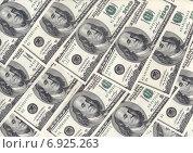 Купить «Фон из стодолларовых купюр», фото № 6925263, снято 1 января 2015 г. (c) Александр Тараканов / Фотобанк Лори