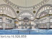 Купить «Интерьер мечети Нуруосмание в Стамбуле, Турция», фото № 6926859, снято 13 ноября 2014 г. (c) Михаил Марковский / Фотобанк Лори