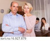 Купить «Sad elderly couple», фото № 6927879, снято 12 июля 2020 г. (c) Яков Филимонов / Фотобанк Лори