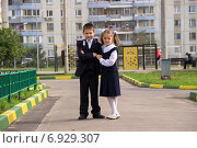 Ученики первого класса. Стоковое фото, фотограф Александр / Фотобанк Лори