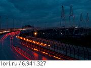 Большой обуховский мост в Санкт-Петербурге (2012 год). Стоковое фото, фотограф Лукаш Дмитрий / Фотобанк Лори