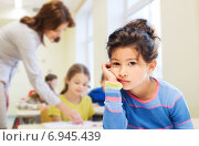 Купить «sad or bored little school girl», фото № 6945439, снято 25 августа 2013 г. (c) Syda Productions / Фотобанк Лори