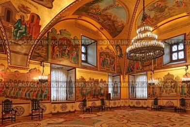 Внутреннее убранство Грановитой палаты в Московском Кремле