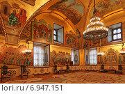 Внутреннее убранство Грановитой палаты в Московском Кремле (2015 год). Редакционное фото, фотограф Алексей Гусев / Фотобанк Лори