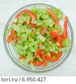 Постный овощной салат. Стоковое фото, фотограф Юлия Костюшина / Фотобанк Лори