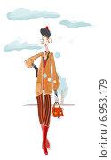 Девушка. Стоковая иллюстрация, иллюстратор Мария Румянцева / Фотобанк Лори