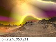 Купить «Чужая планета. Скалы и небо», иллюстрация № 6953211 (c) Parmenov Pavel / Фотобанк Лори