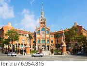 Купить «Hospital de la Santa Creu i Sant Pau in Barcelona», фото № 6954815, снято 13 сентября 2014 г. (c) Яков Филимонов / Фотобанк Лори