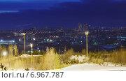 Купить «Вечер в Екатеринбурге, таймлапс», видеоролик № 6967787, снято 4 февраля 2015 г. (c) Никита Майков / Фотобанк Лори