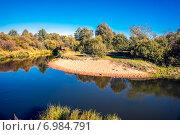 Река Киржач осенним вечером. Стоковое фото, фотограф Павел Лиховицкий / Фотобанк Лори
