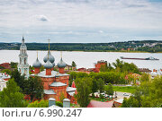 Купить «Панорама Костромы. Вид сверху», фото № 6990247, снято 25 июля 2014 г. (c) Наталья Волкова / Фотобанк Лори