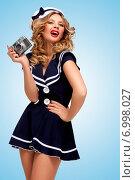 Купить «Vintage sailor girl.», фото № 6998027, снято 27 апреля 2014 г. (c) Ingram Publishing / Фотобанк Лори
