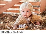 Девочка в вязаной одежде. Стоковое фото, фотограф Мария Мороз / Фотобанк Лори