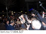 """Джими Доран на премьере фильма """"Пятьдесят оттенков серого"""" в Берлине (2015 год). Редакционное фото, фотограф Светлана Самаркина / Фотобанк Лори"""