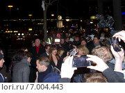 """Докота Джонсон на премьере фильма """"Пятьдесят оттенков серого"""" в Берлине (2015 год). Редакционное фото, фотограф Светлана Самаркина / Фотобанк Лори"""