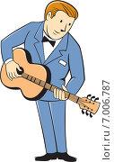 Купить «Гитарист играет на гитаре», иллюстрация № 7006787 (c) Aloysius Patrimonio / Фотобанк Лори
