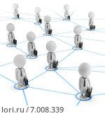 Купить «3d-человечки и деловая сеть», иллюстрация № 7008339 (c) Anatoly Maslennikov / Фотобанк Лори