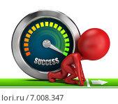 Купить «3d-человечек стремится вперед к успеху», иллюстрация № 7008347 (c) Anatoly Maslennikov / Фотобанк Лори