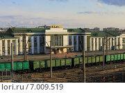 Купить «Вид на станцию Курган», эксклюзивное фото № 7009519, снято 3 апреля 2014 г. (c) Анатолий Матвейчук / Фотобанк Лори