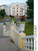Купить «Балюстрада лестницы к Приморскому бульвару. Силламяэ, Эстония», эксклюзивное фото № 7014667, снято 17 августа 2014 г. (c) Александр Щепин / Фотобанк Лори