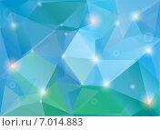 Современный голубой полигональный фон. Стоковая иллюстрация, иллюстратор Миронова Анастасия / Фотобанк Лори