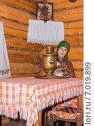 Женщина в Удмуртском национальном костюме. Стоковое фото, фотограф Abogdanov / Фотобанк Лори