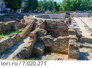 Купить «Греция, Фессалоники, развалины римского Форума (I - IV в. н.э.)», фото № 7020271, снято 13 августа 2014 г. (c) Ольга Коцюба / Фотобанк Лори
