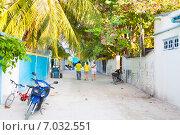 Купить «Мальдивы, деревня на атолле Расду», фото № 7032551, снято 3 февраля 2013 г. (c) Сергей Дубров / Фотобанк Лори