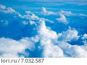 Купить «Небесный пейзаж с кучевыми облаками», фото № 7032587, снято 12 февраля 2013 г. (c) Сергей Дубров / Фотобанк Лори