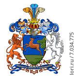 Купить «Родовой герб Аничковых.  (Оничковы)», иллюстрация № 7034775 (c) Владимир Макеев / Фотобанк Лори