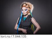 Украинская патриотка с оружием в руках (2014 год). Стоковое фото, фотограф Людмила Васильевна / Фотобанк Лори