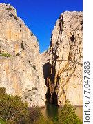 View of Camino del Rey (2014 год). Стоковое фото, фотограф Яков Филимонов / Фотобанк Лори